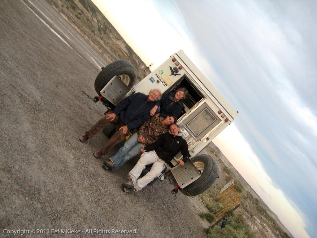 jeep en reizigers